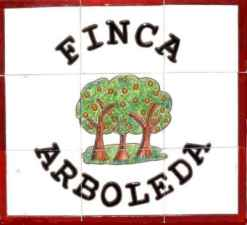Finca Arboleda Holiday accommodation sign